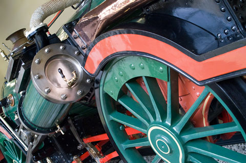 vintage steam engine - close-up